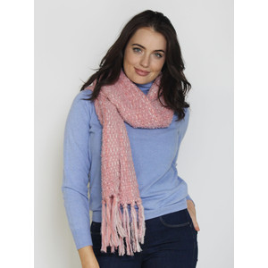 SophieB Pink Bouche Long Winter Scarf