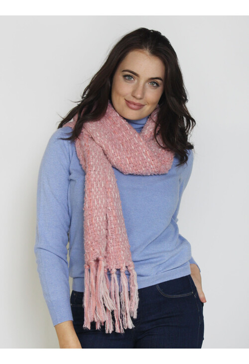 Sophie B Pink Bouche Long Winter Scarf