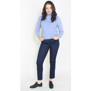 Pamela Scott Sky Blue Cashmere Touch Turtle Neck