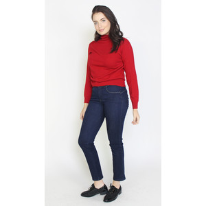 Pamela Scott Red Cashmere Touch Turtle Neck