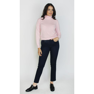 Pamela Scott Pink Cashmere Touch Turtle Neck Knit