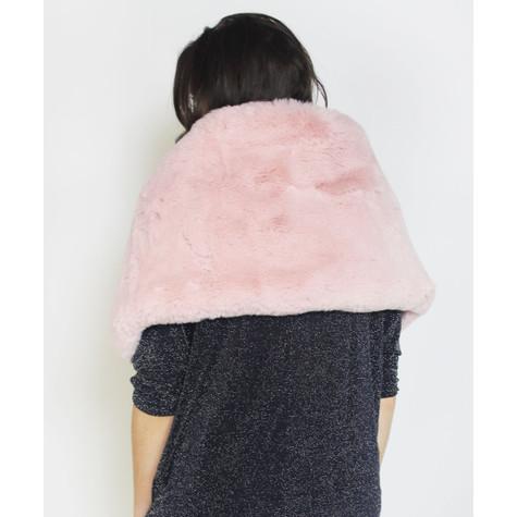Pamela Scott Rose Faux Fur Shoulder Winter Scarf