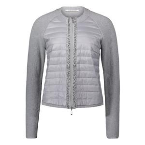 Betty Barclay Grey Zip Up Diamante Detail Jacket