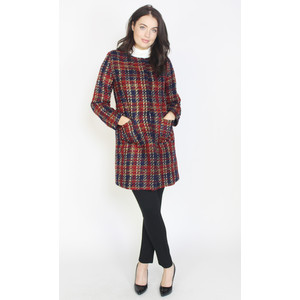 Twist Red Tartan Chanel Tweed Coat