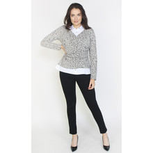 SophieB Grey & Black Leopard Print 2 in 1 Top
