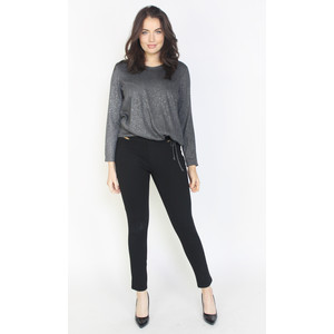 SophieB Dark Grey Metallic Fleck V-Neck Top