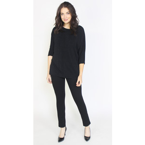 Dreamo Black Flick Detail Loose Top