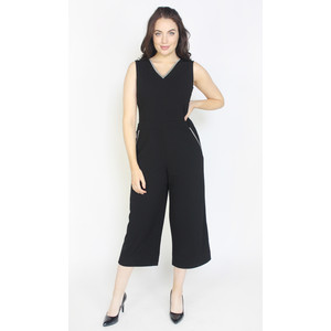 Zapara Black Crop Leg Jumpsuit