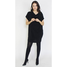 Dreamo Black Sliver Flick Loose Dress