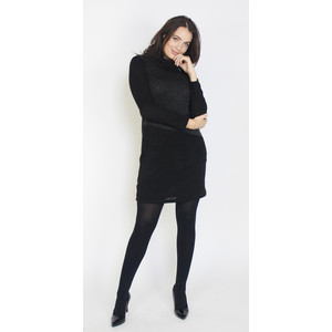 SophieB Dark Grey & Black Patch Cowl Neck Dress
