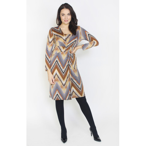 Zapara Multi-Colour Wrap Dress