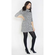 SophieB Grey & Black Cowl Neck Dress