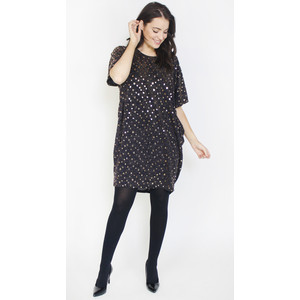 Dreamo Black Gold Sequence Dress