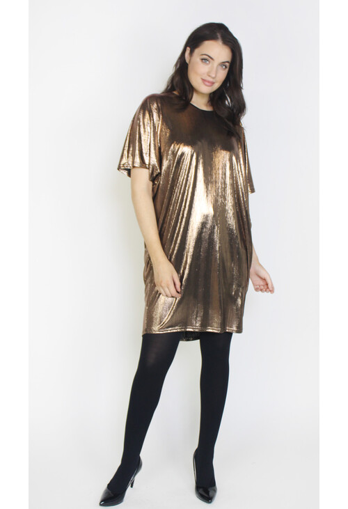 Dreamo Gold Foil Finish Dress