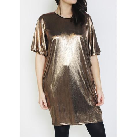 Dreamo Gold Foil Finish Dress