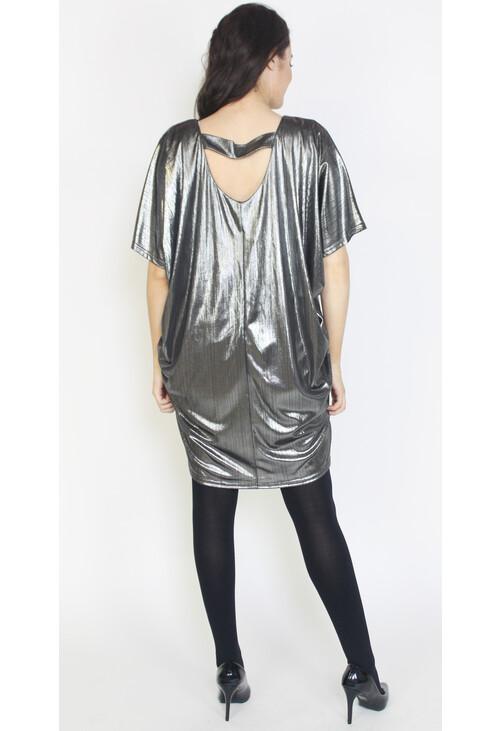 Mona Silver Foil Finish Dress