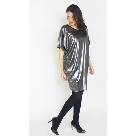 Mona Silver Foil Finish Dress