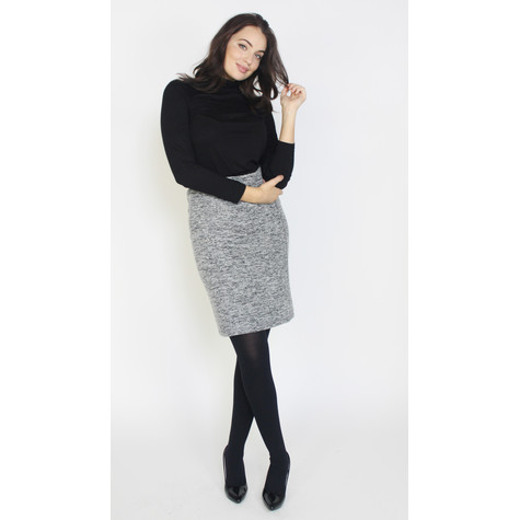 SophieB Grey & Black Straight Skirt