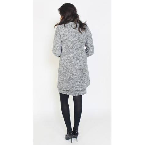 SophieB Grey & Black Soft Knit Jacket