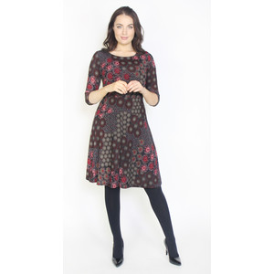 Twist Wine Firework Pattern Dress