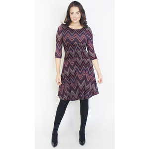 Twist Purple Aztex Pattern Print Dress