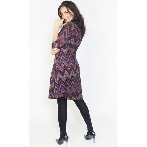 Twist Purple Aztex Pattern Print Dress