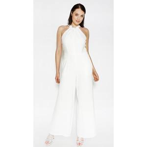 Donna Ricco Ivory Sleeveless Jumpsuit
