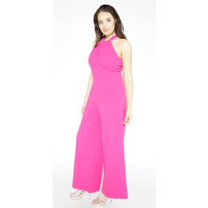 Donna Ricco Fushia Sleeveless Jumpsuit