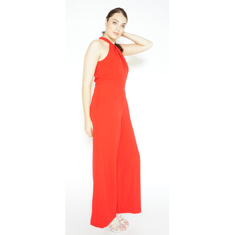 Donna Ricco Red Sleeveless Jumpsuit