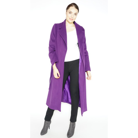 SophieB Purple Belted Winter Coat