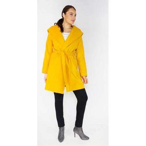 SophieB Ochre Belted Big Shawl Coat
