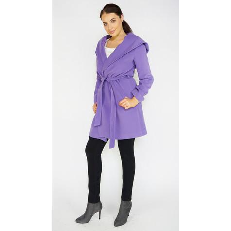 SophieB Lilac Big Shawl Belted Coat