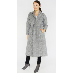Zapara Black Herringbone Long Winter Coat