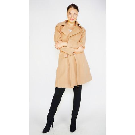 Zapara Camel Belted Winter Coat