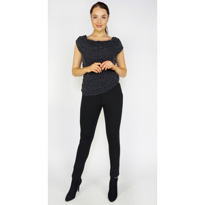 Zapara Black Glitz Ruffle Top