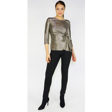 Zapara Gold Shimmer Knot Detail Top