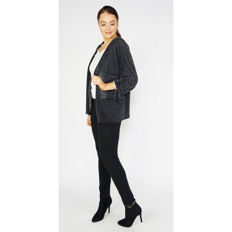 SophieB Black & Silver Light Open Jacket