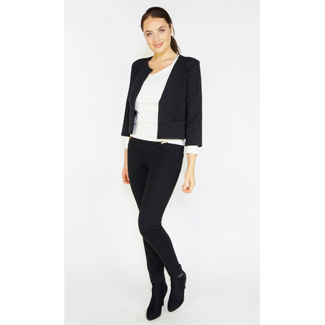 Zapara Black Sparkle Crop Jacket