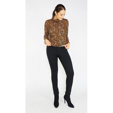 SophieB Leopard Print Cowl Neck Top
