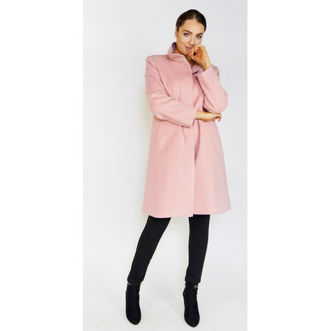 SophieB Pink Button Up Coat