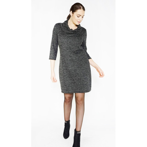 Zapara Green Cowl Neck Dress