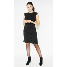 Zapara Black Shimmer Sleeveless Dress