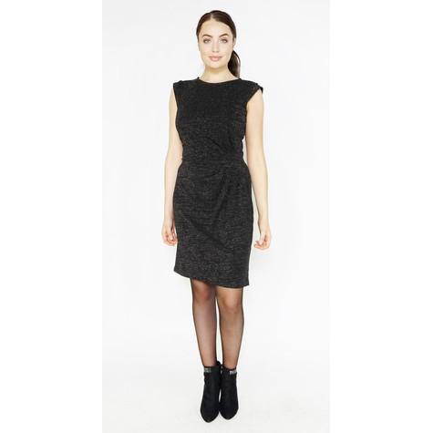 Zapara Black Shimmer Sleeveless Dress