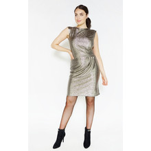 Zapara Gold Shimmer Sleeveless Dress