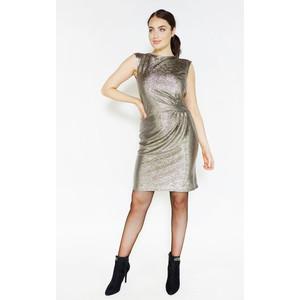 Zapara Gold Shimmer Sleeveless Dress