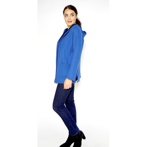 Twist Royal Blue & Navy Soft Touch Hoodie Knit