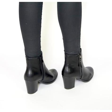 Girlhood Black Ankle Zip Boots