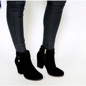 Vice Verso Black Suede Block Heel Boot