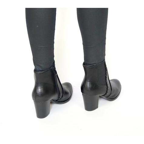 Pamela Scott Black Millionbon Ankle Boots
