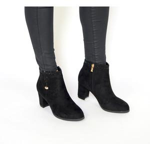 Vice Verso Black Suede Diamante Detail Boots